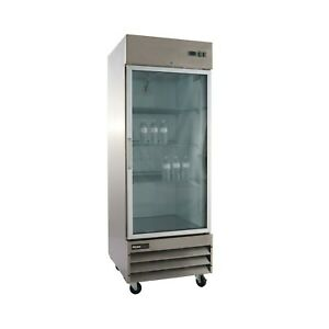 Glass Door Commercial Stainless Steel Refrigerator Cfd 1rrg free Shipping