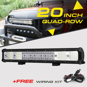 20inch 900w Tri Row Cree Led Light Bar Work Lamp Spot Flood Off Road 4wd Atv 22