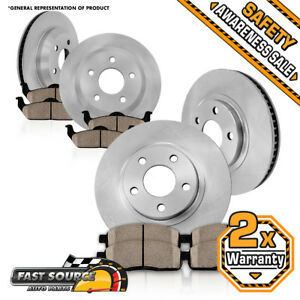 Front rear Rotors And Ceramic Brake Pads For 2007 2008 2009 2010 Hyundai Elantra
