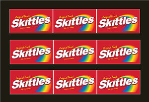 9 Vendstar 3000 Vending Machine Candy Stickers Label Free Shipping Skittles