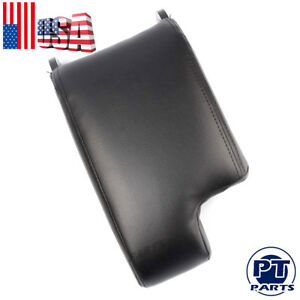Leather Armrest Center Console Lid Cover Storage Box For Bmw E46 1999 04 Black