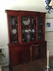 Mahongany Breakfront China Cabinet