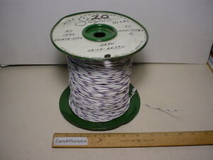 Storm 20 Awg Teflon Hookup Wire Mil w 16878 4 19 Strand Type E White With Purple