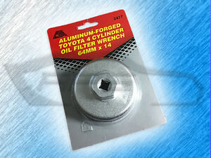 Cta Aluminum Forged Toyota Oil Filter Wrench 4 Cyl 64mm X 14 Flute 2477