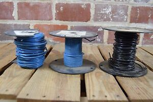 Lot Of 3 Assorted Wire Spools 12 Awg 16 Awg