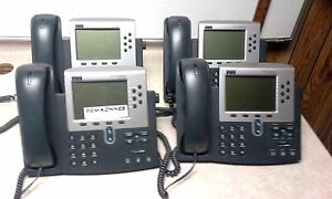 Lot Of 4 Cisco Ip Phone 7960 Series 68 1679 06 Rev B0 Tested Free Shipping
