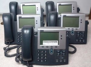 Lot Of 5 Cisco Ip Phone 7940 Series 68 1735 06 Rev B0 Tested Free Shipping