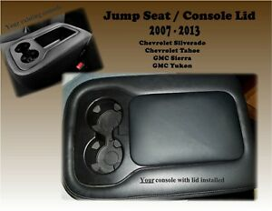 Console Jump Seat Lid Cover Armrest 2007 2014 Chevy Silverado Gmc Sierra