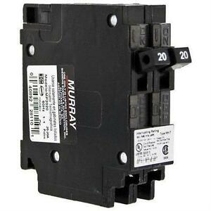 Lot Of 12 Murray Mp2020 Mp2020 20a Twin Circuit Breaker New In Box