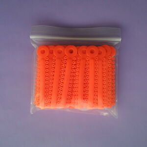 10 Packs Dental Orthodontic Elastics Ligature Ties Rubber Bands Braces Orange