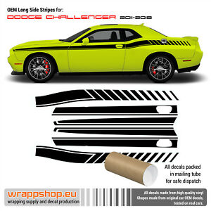 Dodge Challenger Side Stripes Decals 2011 2018