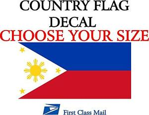 Filipino Country Flag Sticker Decal 5yr Vinyl Country Flag Of The Philippines