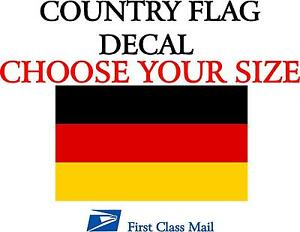 German Country Flag Sticker Decal 5yr Vinyl State Flag