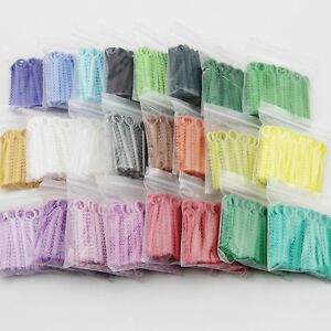 10 Pack Dental Orthodontic Ligature Tie Elastic Rubber Band Choose From 36 Color
