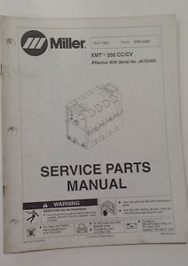 Miller Xmt 200 Cc cv Service Manual January 1994