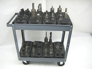 Big Lot Of 16 Trays For 40 Cat40 Ct40 Bt40 Nmbt40 Cnc Toolhoders Storage Racks