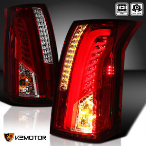 2003 2007 Cadillac Cts Red Smoke Lens Led Bar Tail Lights Brake Lamps Left Right