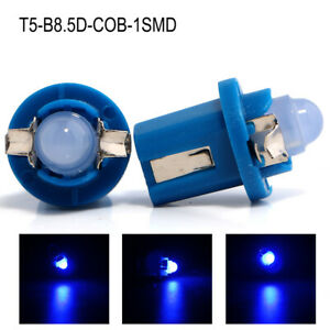 300pcs Blue T5 B8 5d Cob 1 Smd Led Instrument Lights Lamp For Car Auto Dashboard