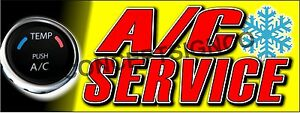2 x5 A c Service Banner Outdoor Indoor Sign Auto Shop Air Conditioning Repair