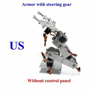 Fully Assembled 6 axis Mechanical Robotic Arm Clamp Claw For Arduino Raspberry