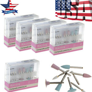 10kits New Dental Composite Polishing Kit Ra 0309 For Low speed Handpiece Usps
