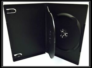 100 New Premium Black Triple Multi Hold 3 Discs Cd Dvd Cases Standard 14mm Tp