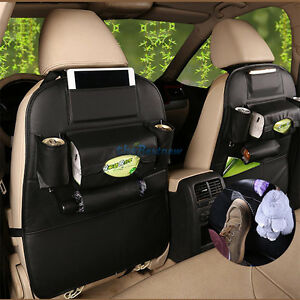 1pcs Leather Car Seat Back Bag Organizer Storage Ipad Phone Holder Multi Pocket