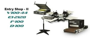 Vastex Shop Level 2 V 100 Screen Printing Press 4 Station 4 Color