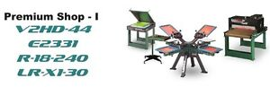 Vastex V 2000 Screen Printing Press 4 Station 4 Color Prem Shop 1