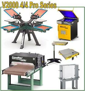 Vastex V 2000 Screen Printing Press 4 Station 4 Color Pro Shop