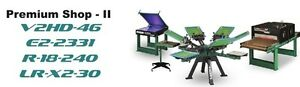 Vastex V 2000 Screen Printing Press 4 Station 6 Color Prem Shop 2