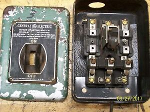 General Electric Motor Starter Switch 2hp 2 3 Phase 110 600v Cr1062 b7