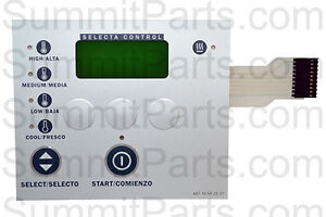 Metered Keypad For Wascomat Dryer Td3030 196922