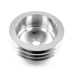 Chevy Sbc 350 Billet Aluminum Short Water Pump Swp 3 Groove Crank Pulley
