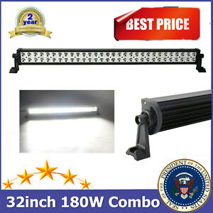 Philips 32 Inch 180w Led Light Bar Spot Flood Offroad Driving Lamp Truck 30 34