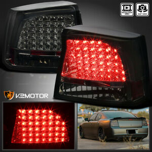 2005 2008 Dodge Charger Led Tail Lights Rear Brake Lamps Smoke Replacement