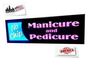 No Chip Manicure Pedicure Sign led Light Box Sign 12 x32 x 2