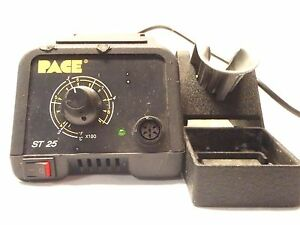 Pace St 25 Soldering Desoldering Station With Pace 1257 0237 Stand