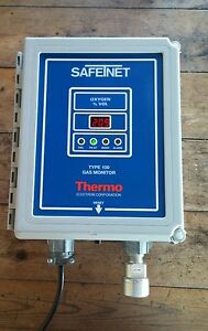 Safetnet Thermo Electron Type 100 Oxygen Gas Monitor 72 1302 115 Vac