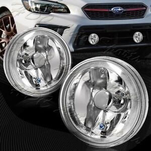 4 Round Chrome Housing Clear Lens Fog Driving Lights Kit Switch Universal