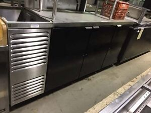 Three Door Back Bar Cooler 88 Wide