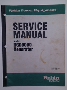 Robin Power Equipment Model Rgd5000 Generator Service Manual July 1998
