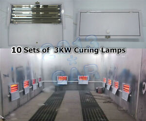 10 Sets X 3kw Spray Baking Booth Infrared Paint Curing Lamps Lights Heating Lamp