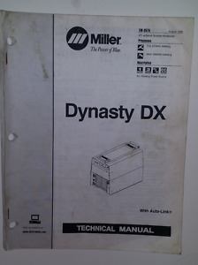 Miller Dynasty Dx Technical Manual August 1998