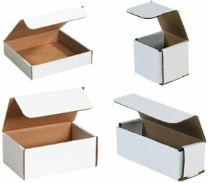 200 8 X 3 X 2 Uline Indestructo White Corrugated Mailers Shipping Gift Boxes