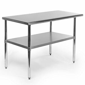 Stainless Steel Work Food Table Kitchen Island Prep Station Shelf Counter Top