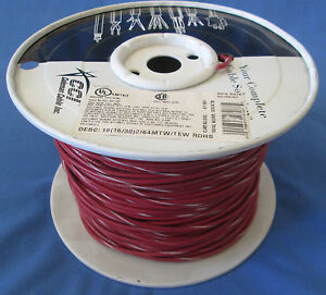 18 Gauge Mtw tew Stranded Copper Wire Red White Stripe Partial Roll 400 450