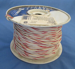 18 Gauge Mtw tew Stranded Copper Wire White With Red Stripe Full Roll 500