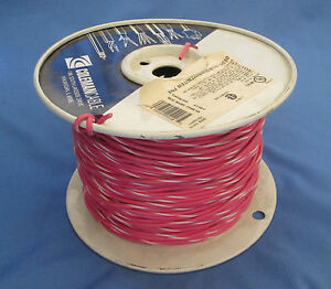 18 Gauge Mtw tew Stranded Copper Wire Pink White Stripe Partial Roll 400 450