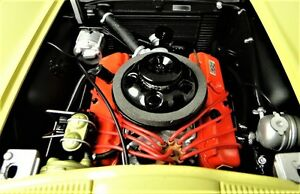 Corvette 1967 Vette Chevy Chevrolet Car Yellow With V8 Engine And Vintage Wheels